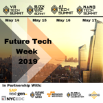 New York City Announces the Historic Launch of Future Tech Week With 1000 Global Delegates on May 13-17 2019